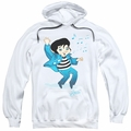 Elvis Presley pull-over hoodie Lil Jailbird adult white