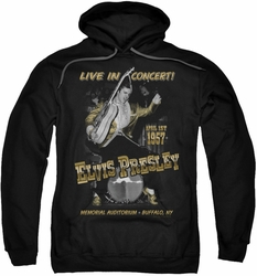 Elvis Presley pull-over hoodie Live In Buffalo adult black