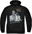 Elvis Presley pull-over hoodie Live In Vegas adult black