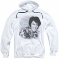 Elvis Presley pull-over hoodie Lonesome Tonight adult white
