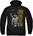 Elvis Presley pull-over hoodie Long Live The King adult black