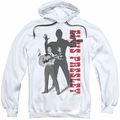 Elvis Presley pull-over hoodie Look No Hands adult white