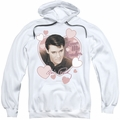 Elvis Presley pull-over hoodie Love Me Tender adult white