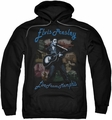 Elvis Presley pull-over hoodie Memphis adult black