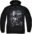 Elvis Presley pull-over hoodie Motorcycle adult black