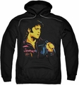 Elvis Presley pull-over hoodie Neon Elvis adult black