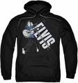 Elvis Presley pull-over hoodie On His Toes adult black