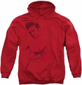 Elvis Presley pull-over hoodie On The Range adult red