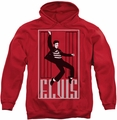 Elvis Presley pull-over hoodie One Jailhouse adult red