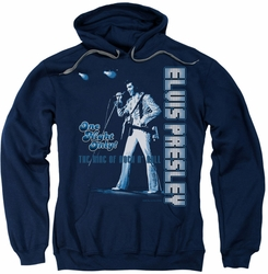 Elvis Presley pull-over hoodie One Night Only adult navy