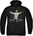 Elvis Presley pull-over hoodie Ornate King adult black