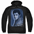 Elvis Presley pull-over hoodie Overlay adult black
