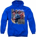 Elvis Presley pull-over hoodie Ranch adult royal blue