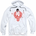 Elvis Presley pull-over hoodie Red Pheonix adult white