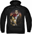 Elvis Presley pull-over hoodie Red Scarf #2 adult black