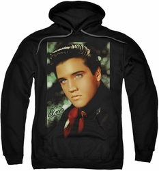 Elvis Presley pull-over hoodie Red Scarf adult black
