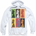 Elvis Presley pull-over hoodie Retro Boxes adult white