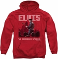 Elvis Presley pull-over hoodie Return Of The King adult red