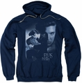 Elvis Presley pull-over hoodie Reverent adult navy
