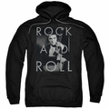 Elvis Presley pull-over hoodie Rock And Roll adult black