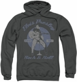 Elvis Presley pull-over hoodie Rock & Roll adult charcoal