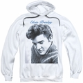 Elvis Presley pull-over hoodie Script Sweater adult white