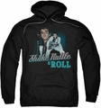Elvis Presley pull-over hoodie Shake Rattle & Roll adult black