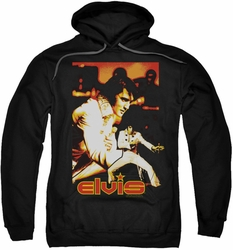 Elvis Presley pull-over hoodie Showman adult black