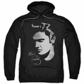 Elvis Presley pull-over hoodie Simple Face adult black
