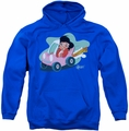 Elvis Presley pull-over hoodie Speedway adult royal blue