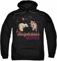 Elvis Presley pull-over hoodie Suspicious Minds adult black
