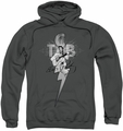 Elvis Presley pull-over hoodie TCB Ornate adult charcoal