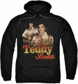 Elvis Presley pull-over hoodie Teddy Bear adult black