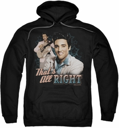 Elvis Presley pull-over hoodie That's All Right adult black