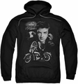 Elvis Presley pull-over hoodie The King Rides Again adult black
