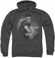Elvis Presley pull-over hoodie Trouble adult charcoal