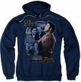 Elvis Presley pull-over hoodie Tupelo adult navy