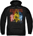 Elvis Presley pull-over hoodie Vegas Remembered adult black