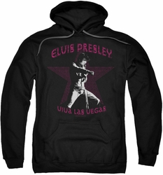 Elvis Presley pull-over hoodie Viva Las Vegas Star adult black