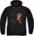 Elvis Presley pull-over hoodie Warm Portrait adult black