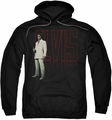Elvis Presley pull-over hoodie White Suit adult black