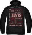 Elvis Presley pull-over hoodie Whole Lotta Type adult black