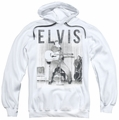 Elvis Presley pull-over hoodie With The Band adult white