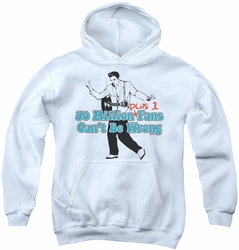 Elvis Presley youth teen hoodie 50 Million Fans Plus 1 white