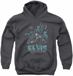 Elvis Presley youth teen hoodie 68 Leather charcoal