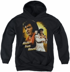 Elvis Presley youth teen hoodie Aloha black