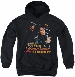 Elvis Presley youth teen hoodie Are You Lonesome black