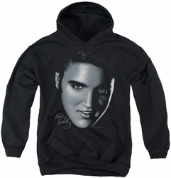 Elvis Presley youth teen hoodie Big Face black