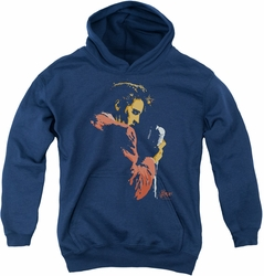 Elvis Presley youth teen hoodie Early Elvis navy