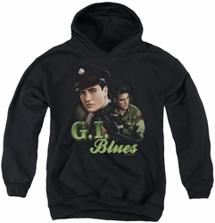 Elvis Presley youth teen hoodie G I Blues black